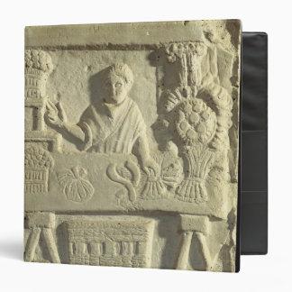 Relief depicting a flower and vegetable seller binders