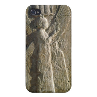 Relief depicting a four-winged spirit iPhone 4 case