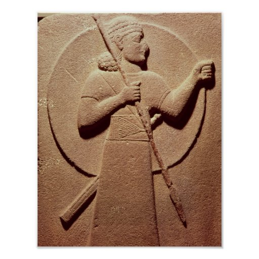 Relief depicting a Hittite warrior Print