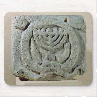Relief depicting a menorah mouse pad