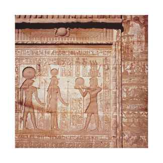 Relief depicting a pharaoh canvas print