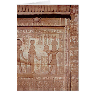 Relief depicting a pharaoh card