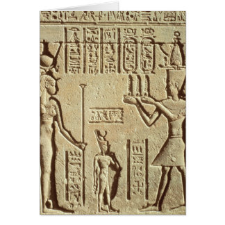 Relief depicting a pharaoh greeting card