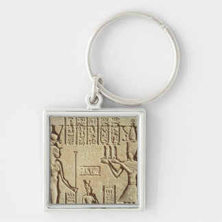 Relief depicting a pharaoh keychain