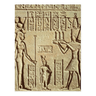Relief depicting a pharaoh post card