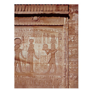Relief depicting a pharaoh postcard