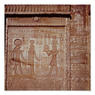 Relief depicting a pharaoh poster