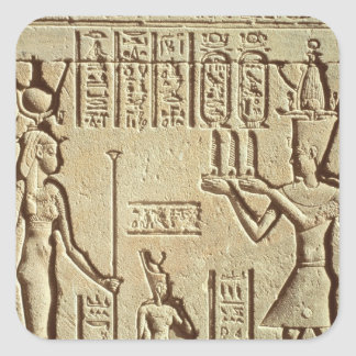 Relief depicting a pharaoh square sticker