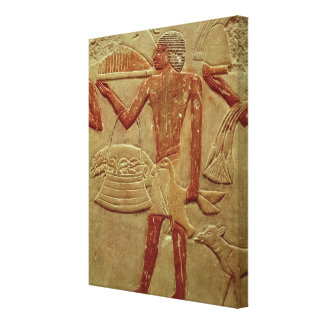 Relief depicting a porter canvas print