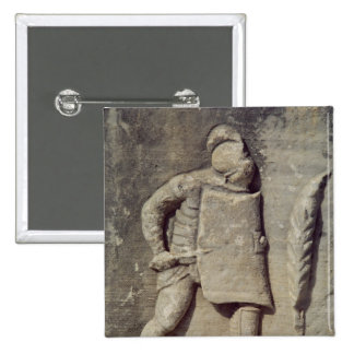 Relief depicting a Roman soldier 2 Inch Square Button