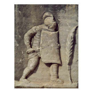 Relief depicting a Roman soldier Postcard