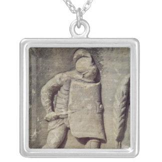 Relief depicting a Roman soldier Square Pendant Necklace