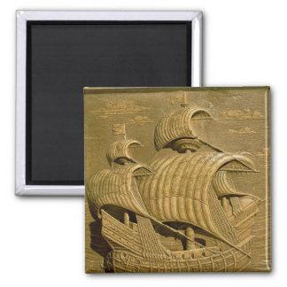 Relief depicting a Venetian galleon Magnet