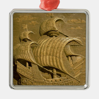 Relief depicting a Venetian galleon Metal Ornament