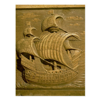 Relief depicting a Venetian galleon Postcard