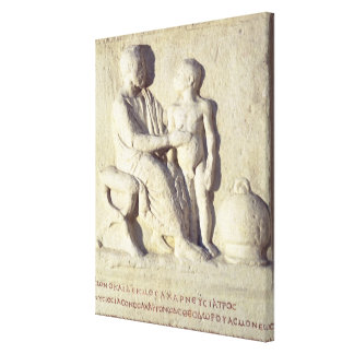 Relief depicting a visit to the doctor canvas print