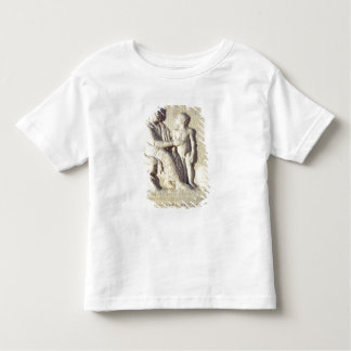 Relief depicting a visit to the doctor t-shirt