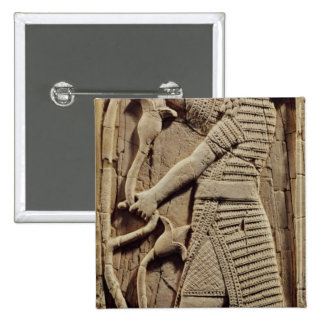 Relief depicting a warrior 2 inch square button