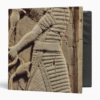 Relief depicting a warrior binder