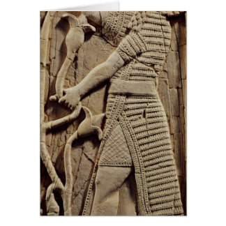 Relief depicting a warrior greeting card