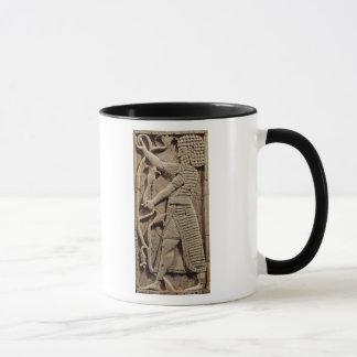 Relief depicting a warrior mug