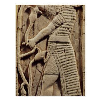 Relief depicting a warrior postcard