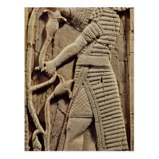 Relief depicting a warrior postcard