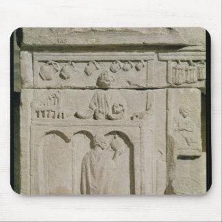 Relief depicting a wine merchant mousepads