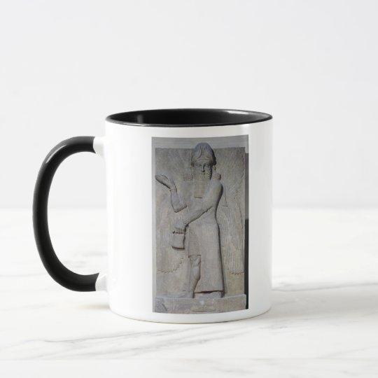 Relief depicting a Winged Genie Mug