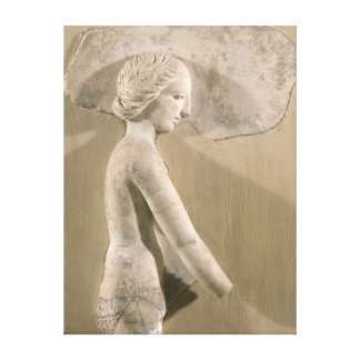 Relief depicting a woman in profile canvas print