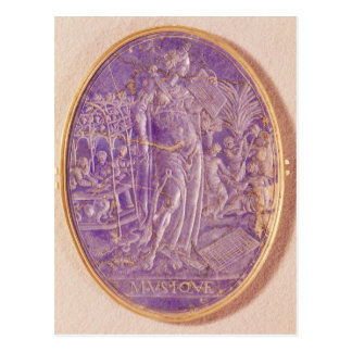 Relief depicting an Allegory of Music Postcard