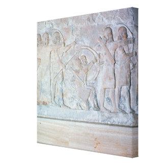 Relief depicting archers canvas print