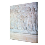 Relief depicting archers canvas print
