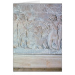 Relief depicting archers card