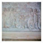 Relief depicting archers poster