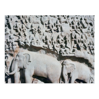 Relief depicting Arjuna s penance Post Cards