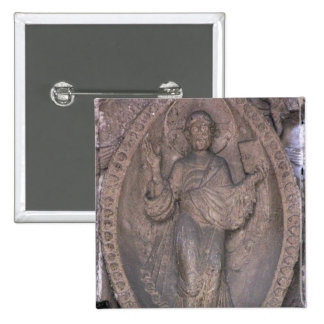 Relief depicting Christ in a mandorla, from the no 2 Inch Square Button