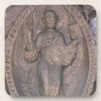 Relief depicting Christ in a mandorla, from the no Drink Coaster