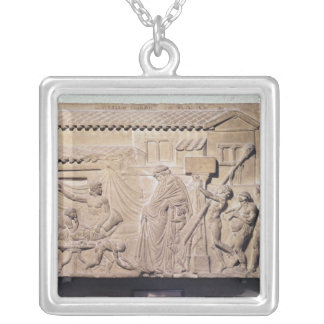 Relief depicting Dionysus at the home of Silver Plated Necklace
