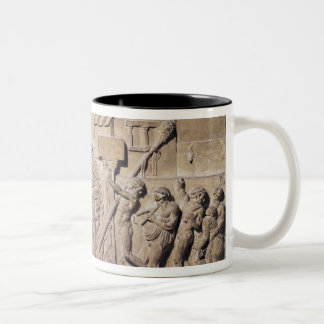 Relief depicting Dionysus at the home of Two-Tone Coffee Mug