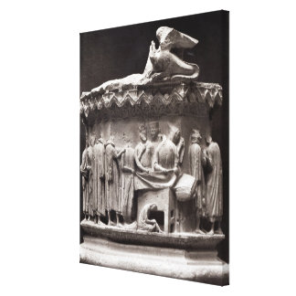 Relief depicting drapers canvas print