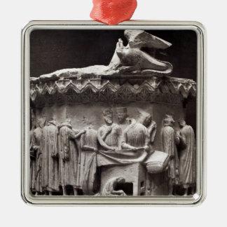 Relief depicting drapers metal ornament
