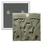 Relief depicting Gilgamesh between two 2 Inch Square Button