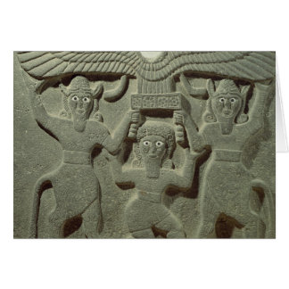 Relief depicting Gilgamesh between two Greeting Card