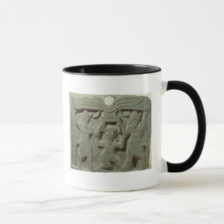 Relief depicting Gilgamesh between two Mug