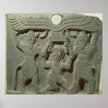 Relief depicting Gilgamesh between two Poster