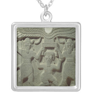 Relief depicting Gilgamesh between two Silver Plated Necklace