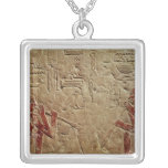 Relief depicting glass blowers square pendant necklace