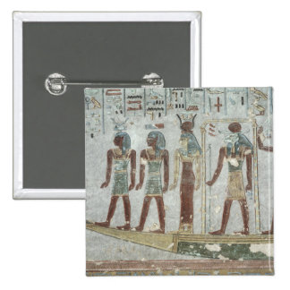 Relief depicting Khnum in a funerary  barque Button