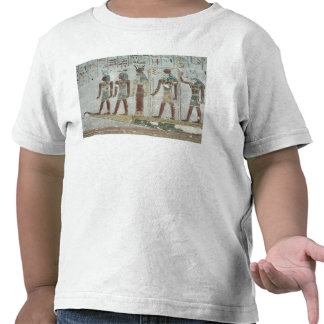 Relief depicting Khnum in a funerary  barque Shirt